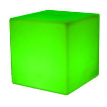 40cm outdoor rechargeable led color changing luminous cube stool <strong>furniture</strong>
