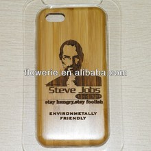 FL2849 2013 Guangzhou hot selling bamboo wood steve jobs case cover for iphone 5c