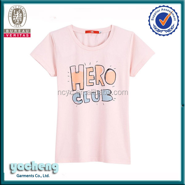 Alibaba wholsale high quality OEM Lady's clothes t shirts for women printing Short Sleeve women tshirt Korea women T shirt