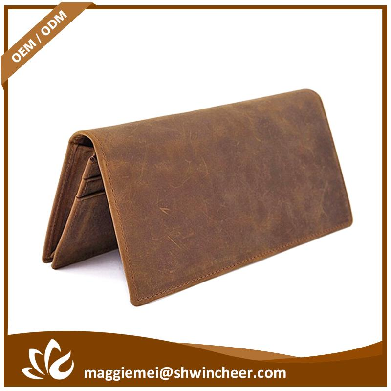 Hot selling genuine leather men wallet, human made real leather wallet, famous brand leather wallet