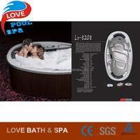 Hot sell new design Acrylic shell spa new product outdoor spa