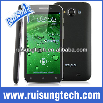 "ZOPO Raiden ZP820 5 inch MTK6582 Quad Core 1.3Ghz Cheap Android Phone 4.2 Os Smart phone 5"" IPS Screen 8Mp Camera 3G WCDMA"