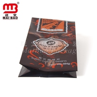 full color laminated matte finish foil coffee bags of food grade