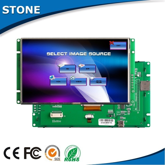 "Tft color lcd 7"" screen rs485 uart monitor touch sorting equipment display"