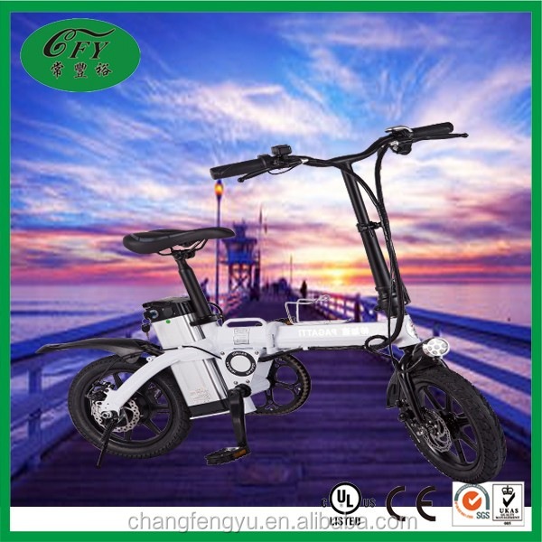 250W mini portable foldable e city bike with lithium battery