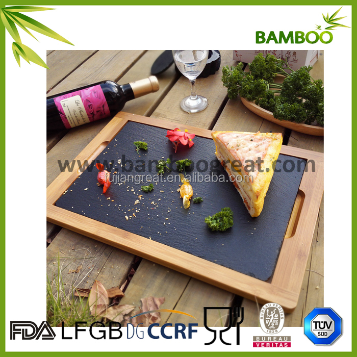 New style Simple design bamboo slate tray