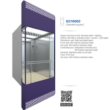 ALD Round or square Glass elevator cabin panoramic lift (ALD-GC16002)