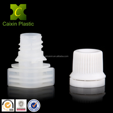 plastic spout with cap for 250ml beverage bottle shape pouch manufactured by Caixin