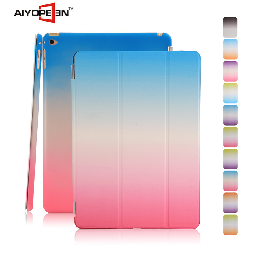 Hot Sale PU smart cover case for iPad mini 4styles rainbow suit cases folded 3 styles Ultra-thin cases