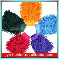 branded microfiber cloth ,H0T022 car washing sponge gloves , high quality chenille cleaning products
