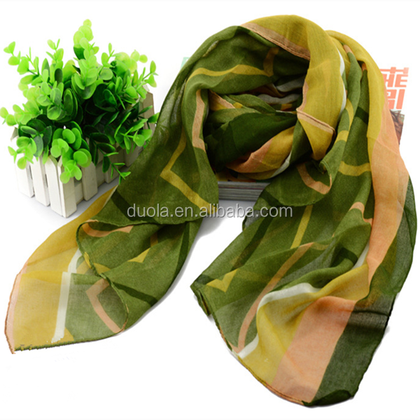 2017 Wholesale Women Fashions Long Polyester Scarf