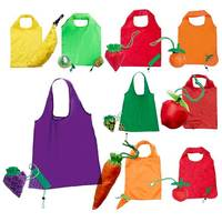 Lightweight Nylon Folding Reusable Grocery Fruit Tote Shopping Bag Coloured
