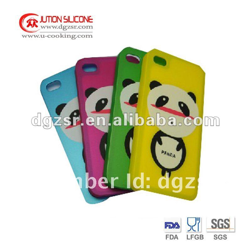 Panda Imprint Silicone Cartoon phone Case