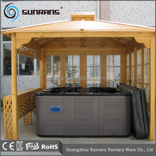 Hot sale SR893 wooden home made gazebo design hot tub gazebo