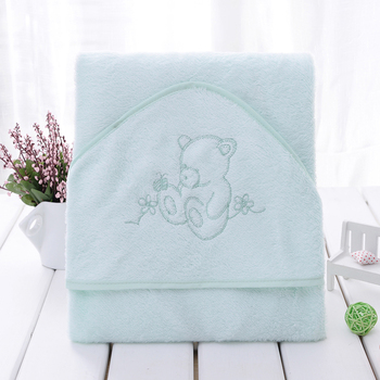 Hot sale soft cute white panda animal design baby hooded towel bamboo