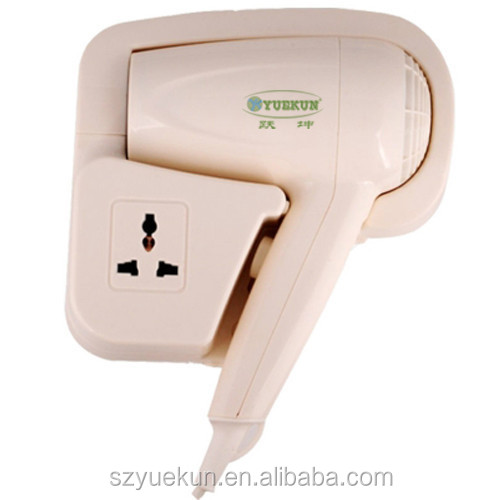 electricity safe switch guest room blower hair dryer/ hanging 110V/220v hair dryer with speed setting