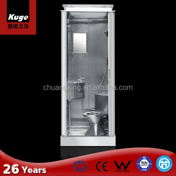 fully stainless steel combination portable shower room wc bathroom