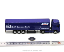 Miniature scale 1:87, business gifts, die cast container truck toy custom made, 20cm long