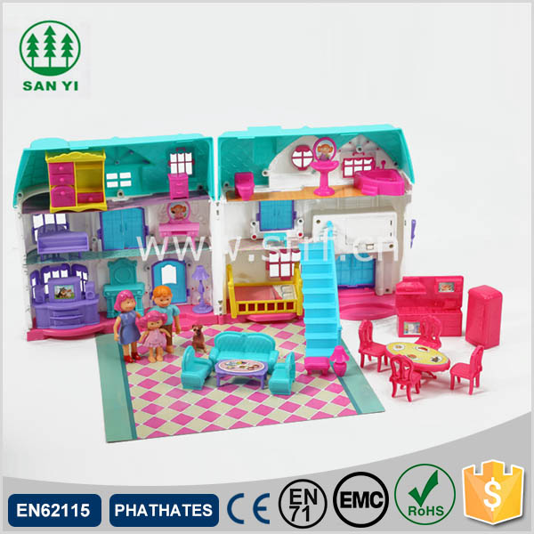 2017 Hot sell plastic doll house toy for kid