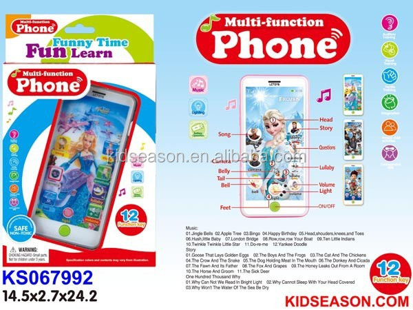 KIDS EDUCATIONAL TOUCH SCREEN LEARNING PHONE TOYS WITH MUSIC