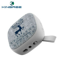 Wholesale New Mini Portable Square FABRIC Wireless Bluetooth Speaker Perfect Feeling