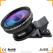 Professional HD 0.45X Ultra Wide Angle Lens 15X Macro 2 In 1 Camera Lens Kit for iPhone SE 6S Plus Xiaomi 4