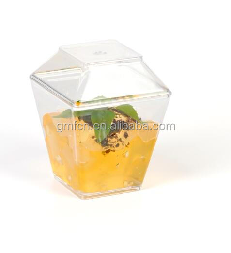The hot sale food grade 4.5 oz / 120 ml disposable plastic mousse cup with lid *