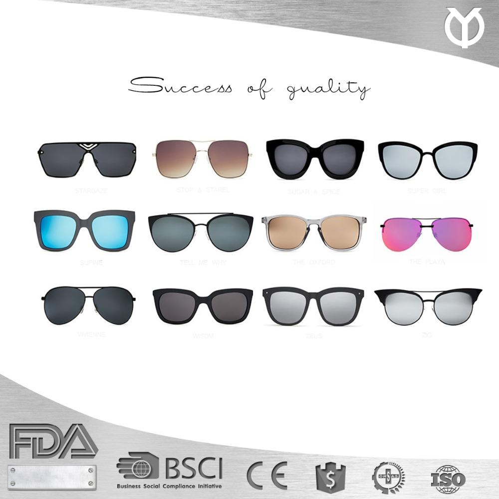 2017 New Style Fashion Shades Retro Vintage sunnies Cat Eye Mirrored Revo Quay Sunglasses