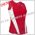 2017 fashion crew neck athletic sleeveless solid Women's running singlet sportswear singlet 100% polyester singlets