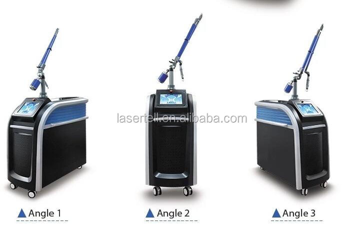 Vertical Pico second q switched nd yag laser 755nm focus 1064 532 Black Carbon all colors tattoo removal skin rejuvenation