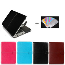 Ultra Slim Laptop Folio Sleeve PU Leather Bag for Macbook Air 11 13, Keyboard Skin Cover for Apple Macbook Air Case