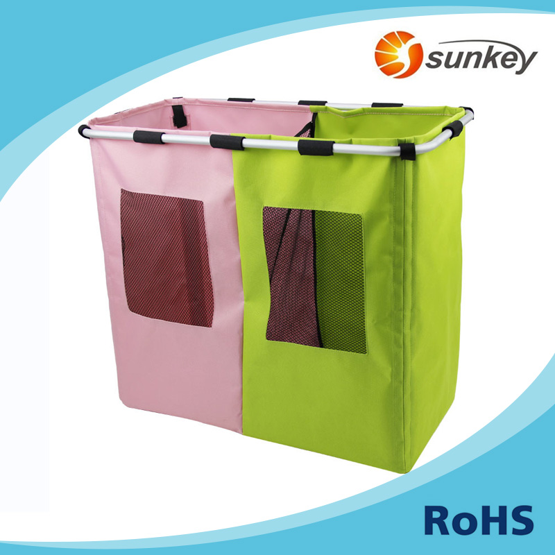 Foldable 2 Section dirty cloth corner storage containers