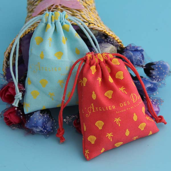 Linen Jewelry Drawstring Pouch