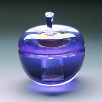 purple color apple shape crystal perfume bottles for wedding favor