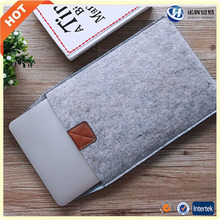 Wholesale custom best grey 14 15.6 inch felt laptop case from china