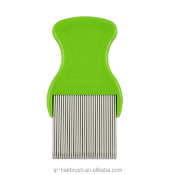 Treatment Comb Head Lice Detection Comb Stainless Steel teeth plastic handle lice comb
