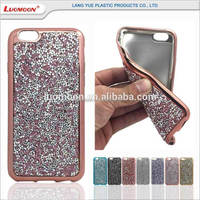 Acrylic plating blue tpu cover case for lenovo p780