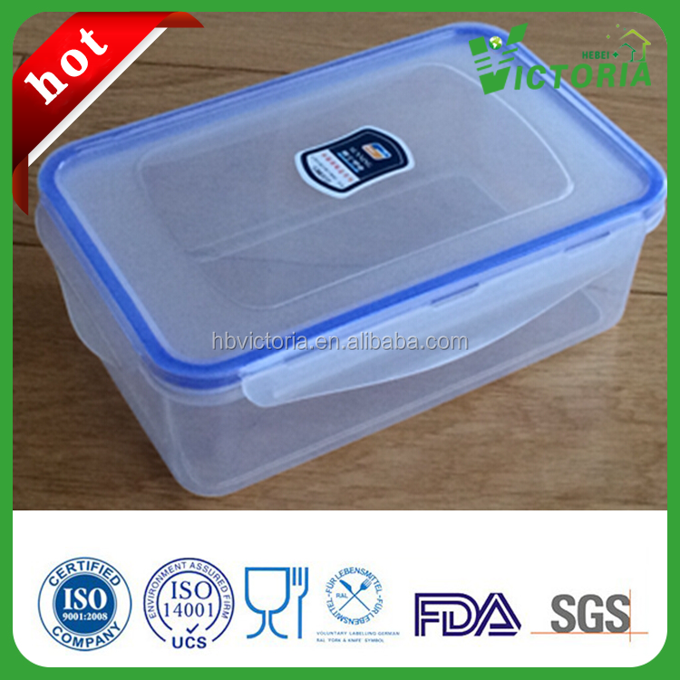 HZ-308 Hot sale Thickened Plastic Storage Box , rectangle shape plastic container.