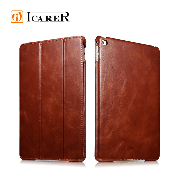 Best Luxury Folio Waterproof Designer Brown Accessories Slim Genuine Leather Case And Cover For Apple For iPad Air 2