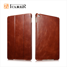ICARER Vintage Series Genuine Cowhide Leather Folio Case for iPad Air 2