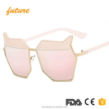 Women oversize polygon party sunglasses cat eye 2017 sun glasses x2244