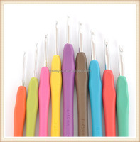 Handle Aluminum Crochet Hooks Set Weave Yarn Craft Metal Knitting Needles