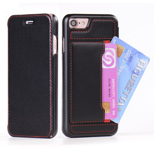 Genuine Leather Smart Phone Cover Case for iPhone 7