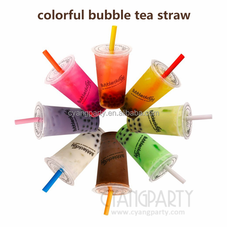 Wholesale Disposable Straight EXTRA LARGE 1/2 Wide Plastic Fat Bubble Tea Straws, Milkshake Straws, Giant Straws