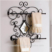 Black Decorative Towel Rack with a Mirror(XY09-1069)