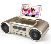 Home appliance midi dvd Karaoke Player with 9 inch screen TV FM DVD player Game Battery