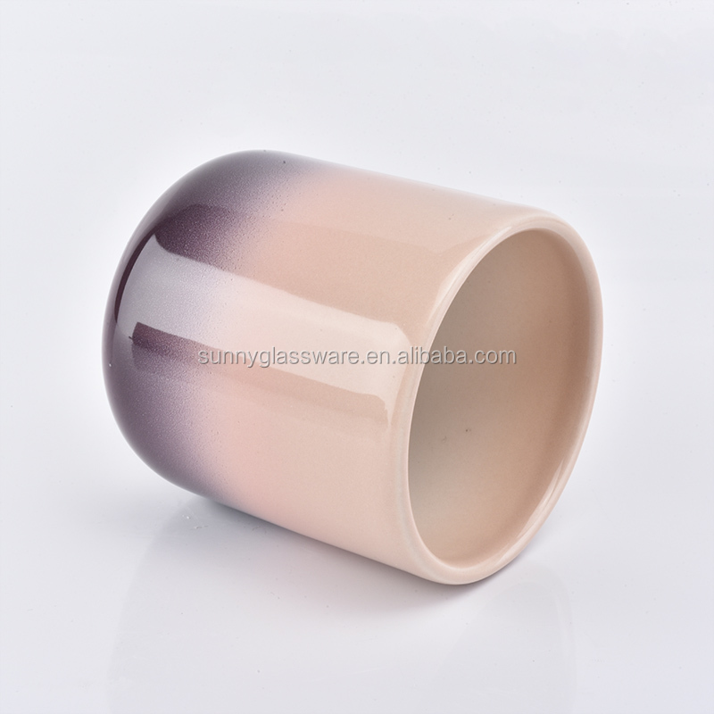 400ml Pink Ceramic Candle Jar For Home Decor