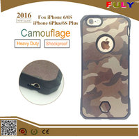 2016 New 2 in 1 Hybrid Combo Shockproof Camouflage Cover Case for iphone 6 6s plus