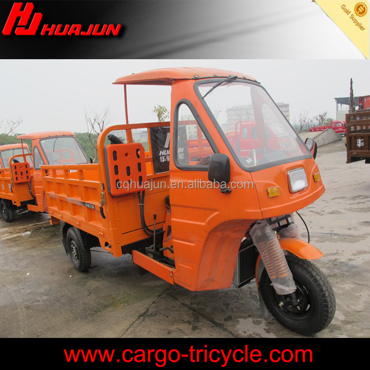 cargo three wheel motorcycle with cabin/closed 3-wheel motorcycle
