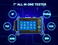 Pretty best product 1280*800 resolution 7'' camera IP/Analog /AHD/TVI /CVI/SDI camera tester monitor with poe output